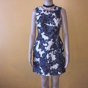 Kate Spade Leena floral black white sheath dress